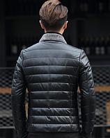 Мужская кожаная куртка Модель 1043, фото 2
