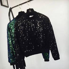 Женский свитер  с блестками, фото 2