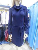 Трикотажное синее платье Anna Maria