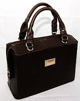 Каркасная сумка B.Elit, рептилия, коричневая