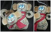 """Кофейная игрушка ручная работа - обезьянки """"Сладкая парочка""""18см, 135/145"""