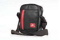 Мужская кожаная PU сумка через плечо месенджер Nike RED