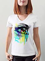 """Женская футболка """"Цветной глаз"""""""