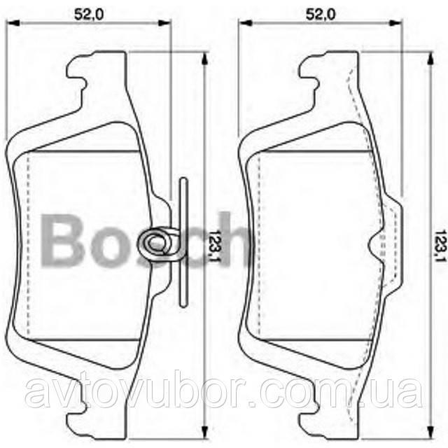 Гальмівні колодки задні (дисковий тип) Ford Focus 05-08 | BSCH 0 986 TB3 028 BOSCH