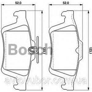 Тормозные колодки задние (дисковый тип) Ford Focus 05-08   BSCH  0 986 TB3 028 BOSCH