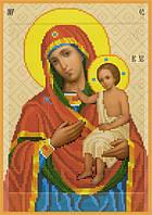Схема для вышивки бисером Икона Богородицы Воспитание