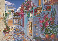 Схема для вышивки бисером Улица старого города