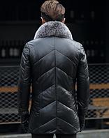 Мужская кожаная куртка. Модель 1044, фото 2