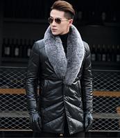 Мужская кожаная куртка. Модель 1044, фото 1
