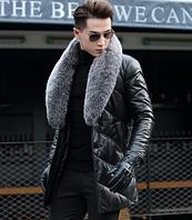 Мужская кожаная куртка. Модель 1044, фото 3