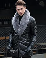 Мужская кожаная куртка. Модель 1044, фото 4