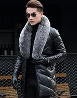 Мужская кожаная куртка. Модель 1044, фото 5