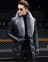 Мужская кожаная куртка. Модель 1044, фото 6