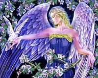 Схема для вышивки бисером  Ангел и голубь
