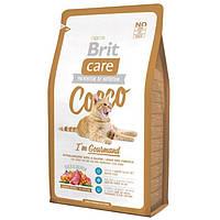 Brit Care Cat Cocco 7кг-корм с уткой и лососем для привередливых кошек (БЕСПЛАТНО НА ДОМ!)
