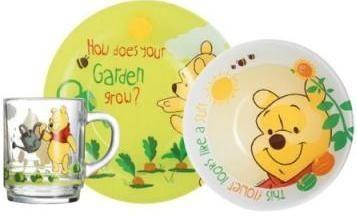 Набор детский Luminarc Disney Winnie Garden H6435, 3 предмета