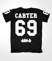 Футболка мужская с принтом CARTER 69 JAY-Z