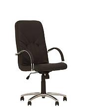 Кресло кожаное для руководителя «Manager steel chrome» SP