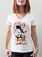 """Женская футболка """"Кит с пандами"""""""
