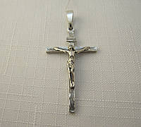 Крест серебряный 925* черненый с распятием