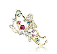 Брошь «Бабочка в стиле Модерн» - для тех, кто любит красивые вещи (золото)