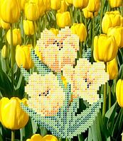 Схема для вышивки бисером Тюльпаны желтые