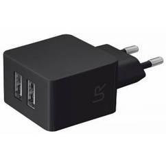 Зарядное устройство TRUST URBAN Dual Smart Wall Charger Black
