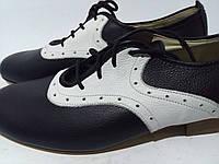 Мужские туфли черно белые Anniel