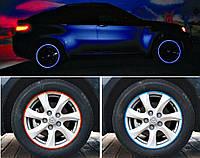 3д тюнинг / Наклейка на обод колеса синяя