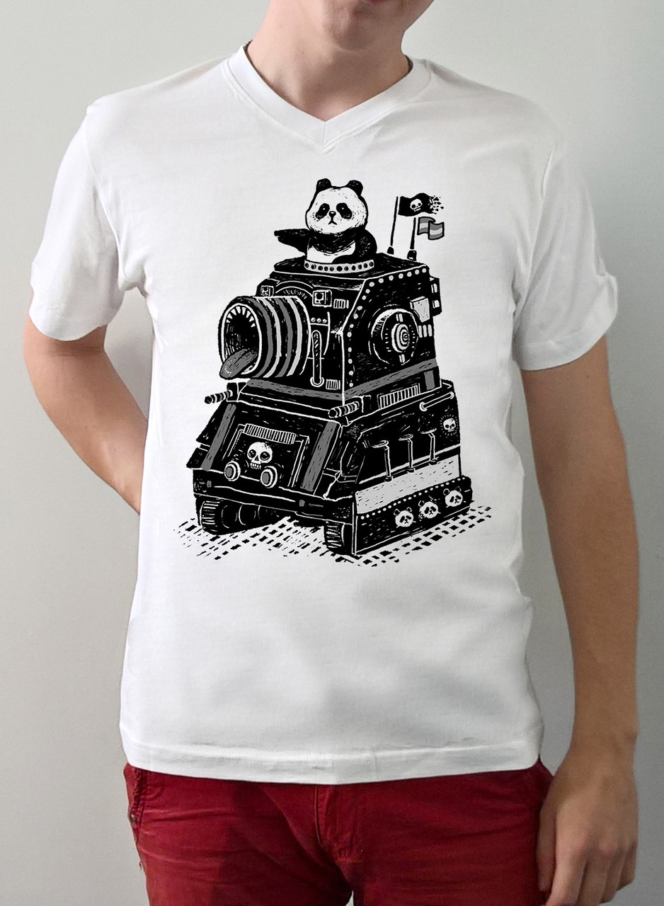 "Мужская футболка ""Панда танкист"""