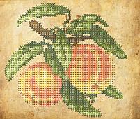 Схема для вышивки бисером Сочные персики