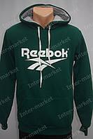 Мужская спортивная кофта REEBOK на байке зеленая