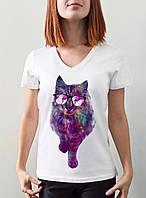 """Женская футболка """"Кот в очках"""""""