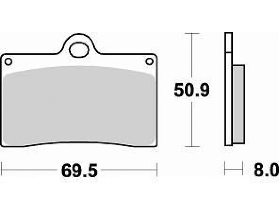 Тормозные колодки Braking 688SM1 для мотоцикла