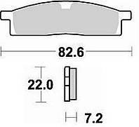 Тормозные колодки Braking 705SM1