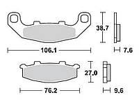 Тормозные колодки Braking 712SM1