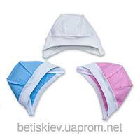 Чепчик для рожденных раньше срока на завязках окружность головы 36 см