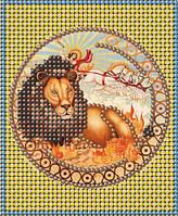 Схема для вышивки бисером Знак зодиака Золото Лев