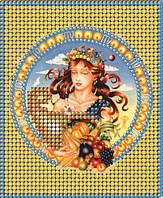 Схема для вышивки бисером Знак зодиака Золото Дева