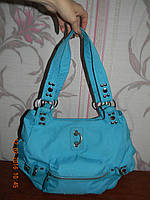 Яркая голубая тканевая сумка George Gina&Lucy, фото 1