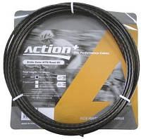 Оплетки (рубашки) черные для тросов тормозных Ashima Action, φ5 мм, бухта 50 м, MTB+Road