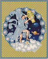 Схема для вышивки бисером Знак зодиака Золото Водолей
