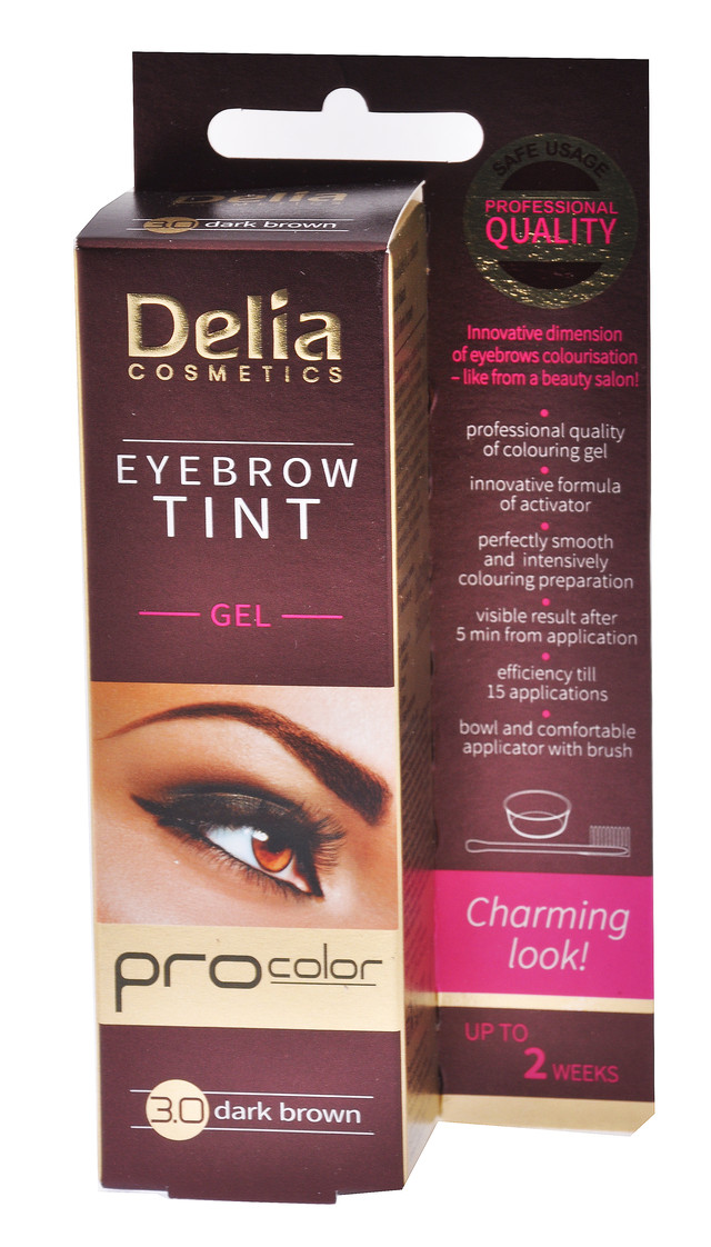 """Гель-краска для бровей """"Delia"""" №3.0 темно-коричневая (15ml)"""