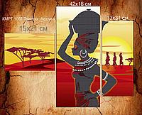 Схема для вышивки бисером Триптих.Африка 45bd687643d28