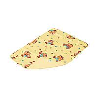 Детская непромокаемая пеленка Classic 50x70, с рисунком, жёлтый