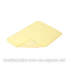 Детская непромокаемая пеленка Classic 50x70, трикотаж, желтый