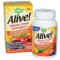 Мультивитамины для бодрости, Nature's Way, 90 таблеток