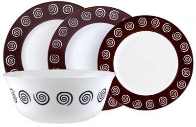 Сервиз столовый Luminarc Sirocco Brown G4135, 19 предметов