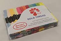 Мулине для вышивания цветное 100 шт., нитки для вишивания