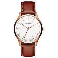Часы мужские MVMT THE 40 - ROSE GOLD NATURAL TAN